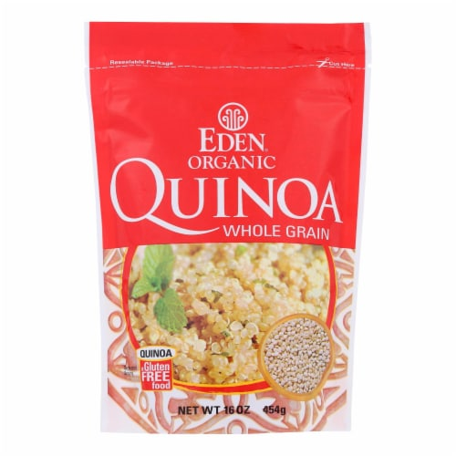 Eden Foods 100% Organic Imported andean Quinoa - Case of 12 - 16 oz Perspective: front