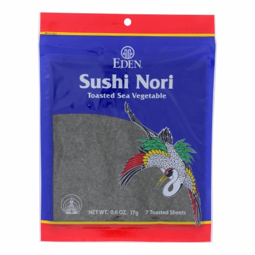 Eden Foods Sushi Nori - Cultivated - Toasted - .6 oz - Case of 6 Perspective: front