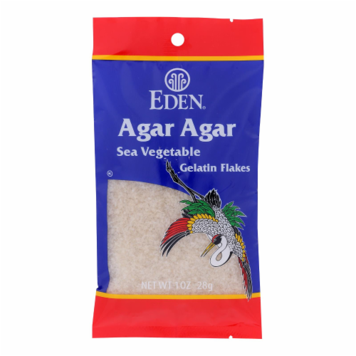Eden Foods Agar Flakes - Sea Vegetable - Wild Hand Harvested - 1 oz Perspective: front