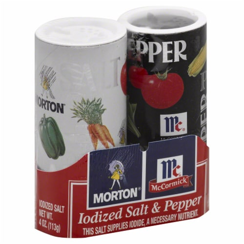 Morton Salt & Pepper Shakers (12 Pack) Perspective: front