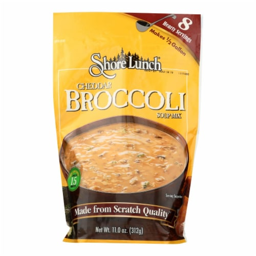 Shore Lunch Cheddar Broccoli Soup Mix Case Sale Perspective: front