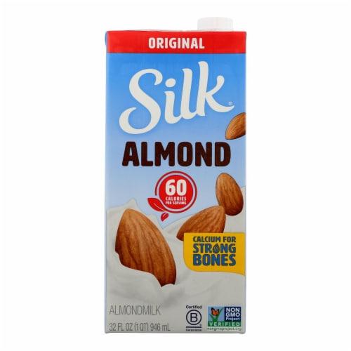 Silk Pure Almond Milk - Original - Case of 6 - 32 Fl oz. Perspective: front