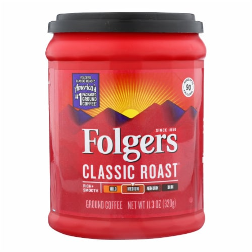 Folgers - Coffee Cassc Roast Ground - Case of 6 - 11.3 OZ Perspective: front