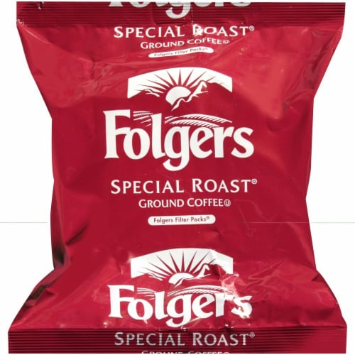 Folgers Special Roast Regular Ground Coffee, 0.9 Ounce -- 160 per case. Perspective: front