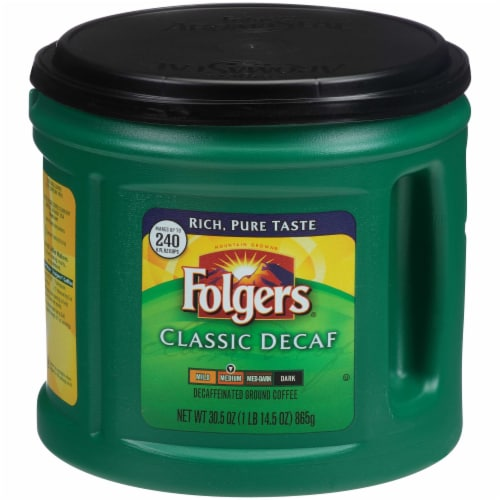 Folgers Classic Decaffeinated Medium Roast Ground Coffee Perspective: front
