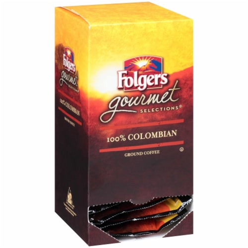Folgers Gourmet Selections 100 Percent Colombian Coffee Pod, 180 Gram -- 6 per case. Perspective: front