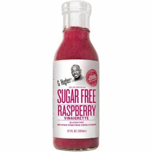 G Hughes Sugar Free Rasberry Vinaigrette Gluten Free, 12 Fl oz (Pack of 6) Perspective: front