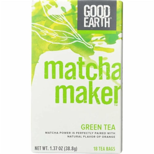 Good Earth Matcha Maker Green Tea 18 ct (Pack of 6) Perspective: front