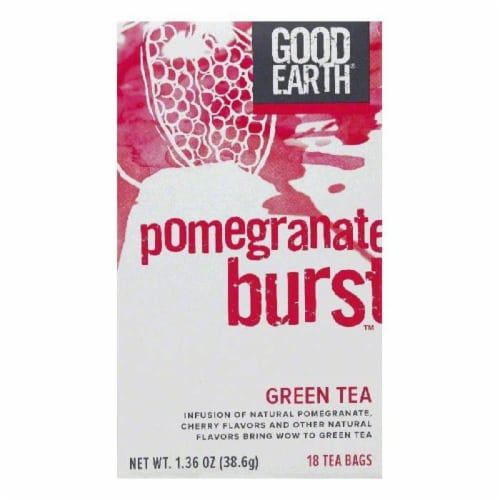 Good Earth Pomegranate Burst Green Tea 18 ct (Pack of 6) Perspective: front