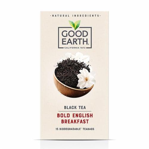 Good Earth Black Tea Bold English Breakfast Tea(15 Tea Bags Pack of 5) Perspective: front