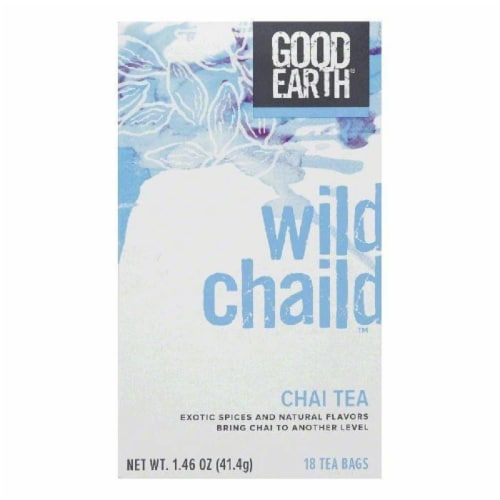 Good Earth Wild Chaild Chai Tea 18 ct (Pack of 6) Perspective: front