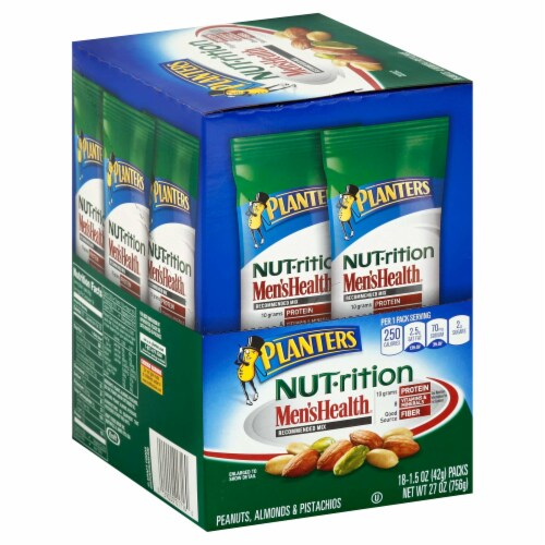 Planters Nut Nutrition Mens Health Recommended Mix, 1.49 Ounce -- 54 per case. Perspective: front