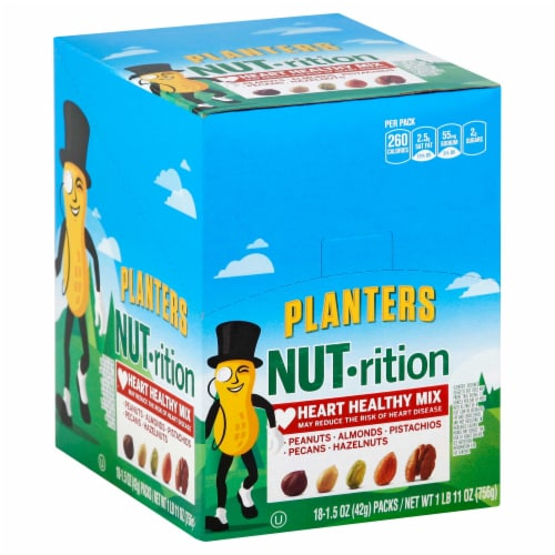Planters Nut Nutrition Heart Healthy Mix, 1.5 Ounce -- 54 per case. Perspective: front