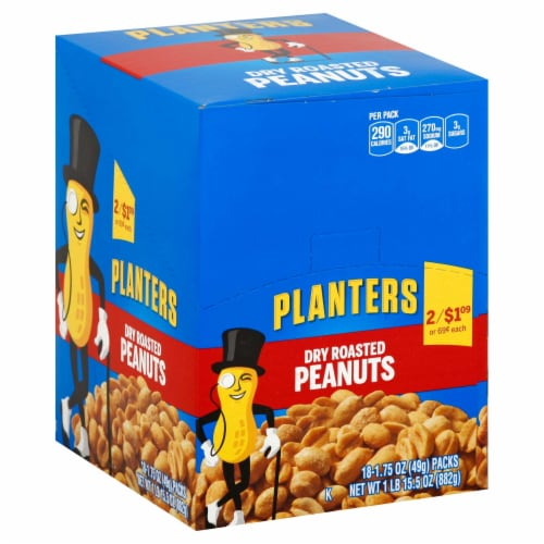 Planters Dry Roasted Peanuts, 1.75 Ounce -- 108 per case. Perspective: front