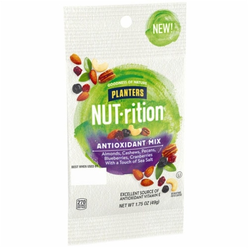 Planters Nut Rition Antioxidant Mix Snack Nuts, 1.75 Ounce -- 30 per case. Perspective: front