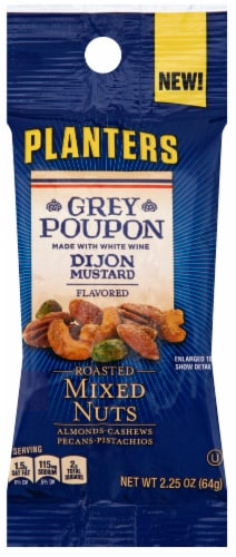 Planters Grey Poupon Snack Nuts, 2.25 Ounce -- 30 per case. Perspective: front