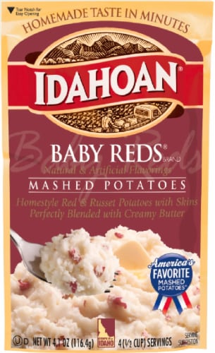 Idahoan Baby Reds Mashed Potatoes Case Sale Perspective: front