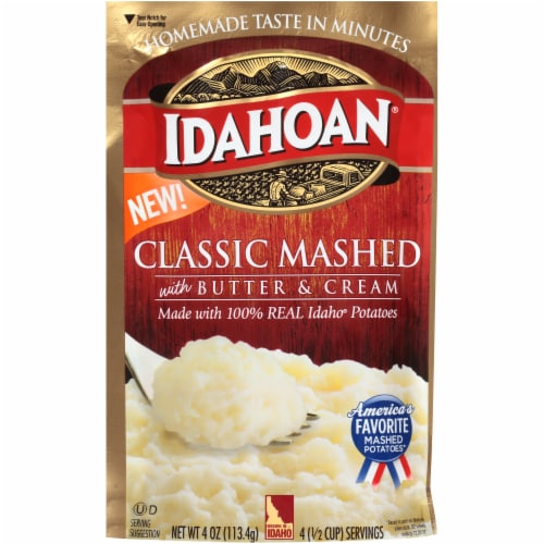 Idahoan Classic Mashed Potatoes Case Sale Perspective: front