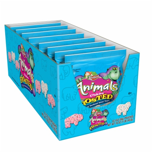 Kelloggs Keebler Frosted Animal Shaped Cookies, 2 Ounce -- 96 per case. Perspective: front