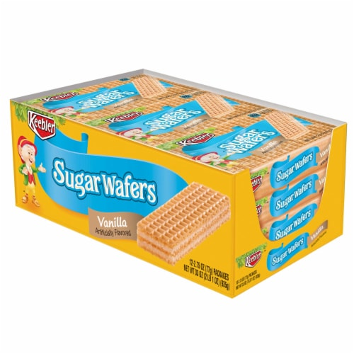 Kelloggs Keebler Vanilla Flavored Sugar Wafers Cookies, 2.75 Ounce -- 144 per case. Perspective: front