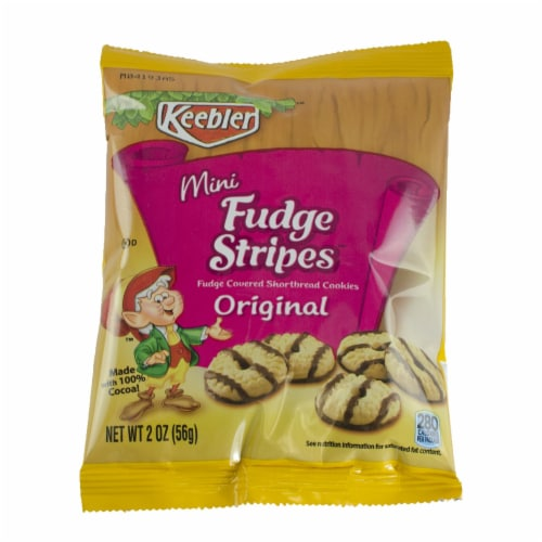 Cookie Keebler Fudge Stripe Mini Bites 60 Case 2 Ounce Perspective: front