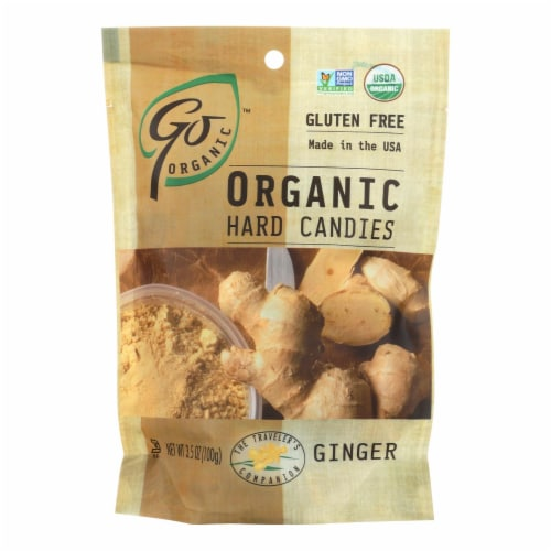 Go Organic Hard Candy - Ginger - 3.5 oz - Case of 6 Perspective: front