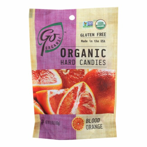 Go Organic Hard Candy - Blood Orange - 3.5 oz - Case of 6 Perspective: front