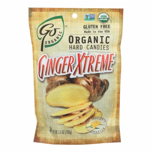 Go Organic Hard Candy - Ginger Xtreme - 3.5 oz - Case of 6 Perspective: front