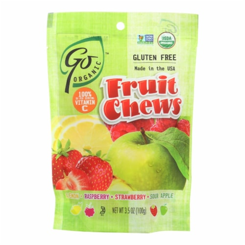 Go Organic Fruit Chews - 3.5 oz - Case of 6 Perspective: front
