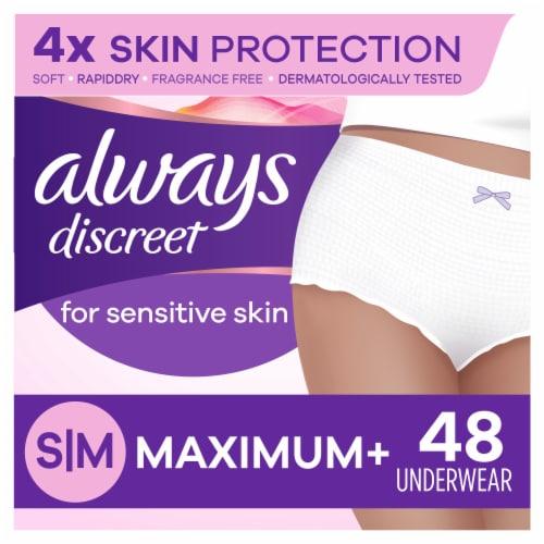 Always Discreet Small/Medium Maximum+ Women's Incontinence Underwear for Sensitive Skin Perspective: front
