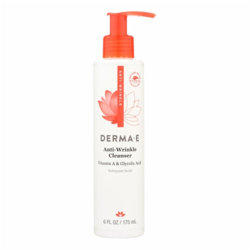 Derma E - Vitamin A Glycolic Cleaners - 6 fl oz. Perspective: front