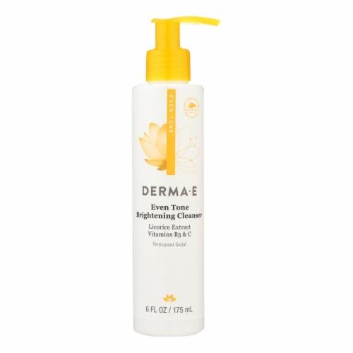 Derma E - Evenly Radiant Cleanser - 6 fl oz. Perspective: front