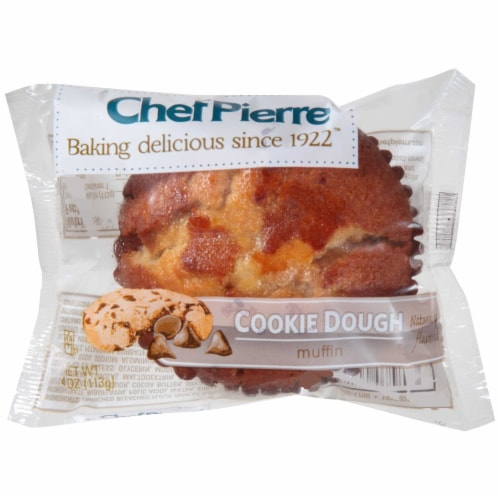 Chef Pierre Muffin Cookie Dough Individually Wrapped, 4 Ounce -- 24 per case. Perspective: front