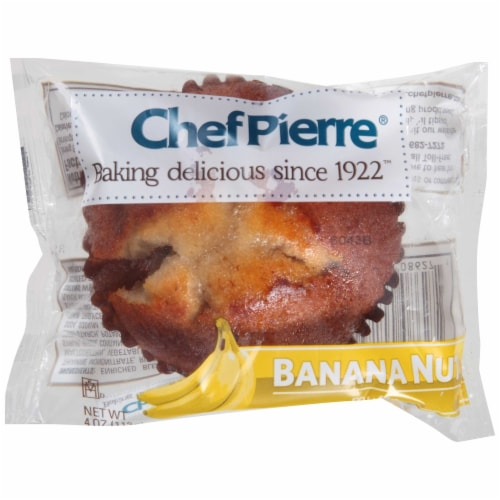 Chef Pierre Banana Nut Muffin, 4.75 Ounce -- 24 per case. Perspective: front