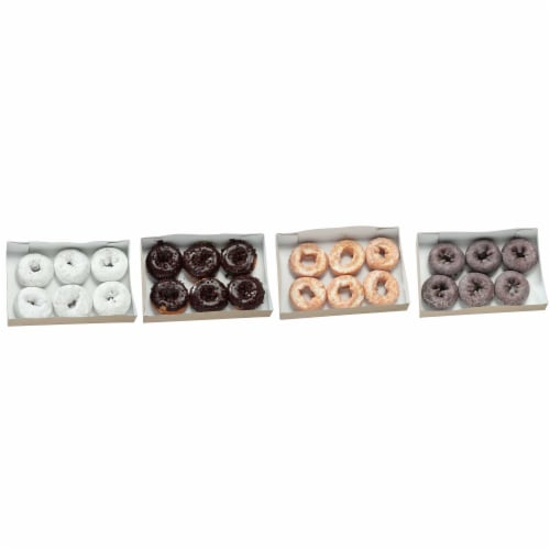 Chef Pierre Cake Donut - Variety Pack -- 48 per case. Perspective: front