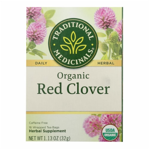 Traditional Medicinals - Herb Tea Red Clover - Case of 6 - 16 BAG Perspective: front