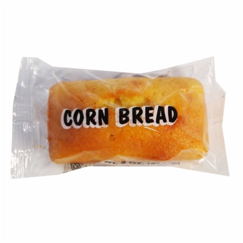 Muffin Town Cornbread Mini Loaves, 2 Ounce -- 72 per case. Perspective: front
