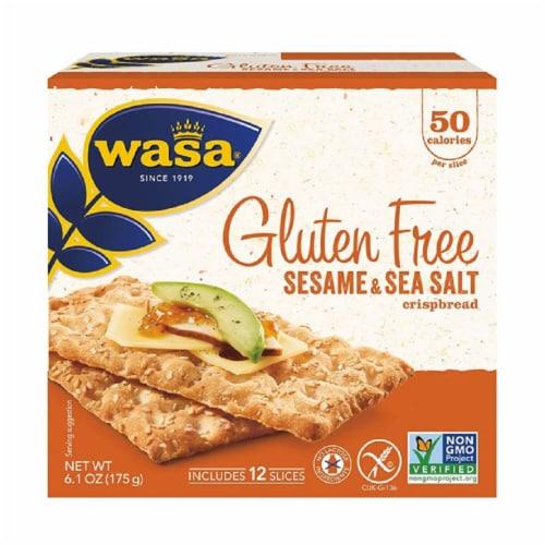 Wasa Gluten Free Sesame & Sea Salt Crispbread, 6.1oz (Pack of 10) Perspective: front