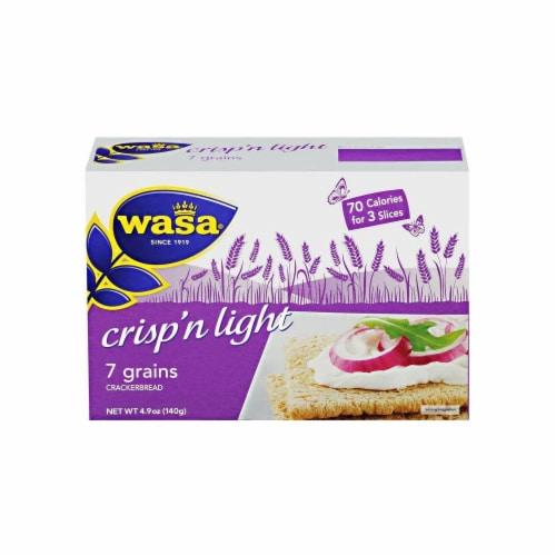Wasa Crispbread Crisp 'N Light 7 Grain Crackerbread - Case of 10 - 4.9 oz. Perspective: front