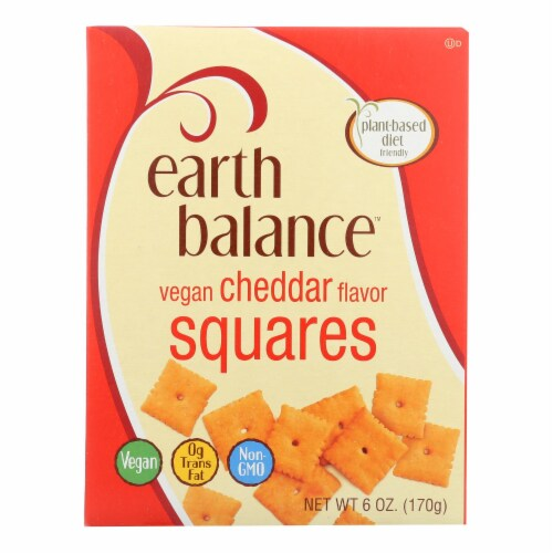 Earth Balance Vegan Squares - Cheddar - Case of 6 - 6 oz. Perspective: front