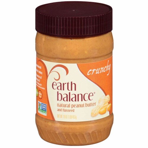 Earth Balance Crunchy Peanut Butter, 16 Ounce -- 12 per case. Perspective: front