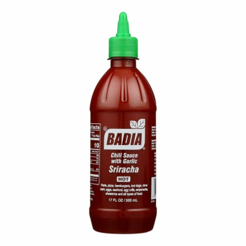 Badia Spices - Sriracha Chili Sauce with Garlic Picante - Case of 6 - 17 Fl oz. Perspective: front