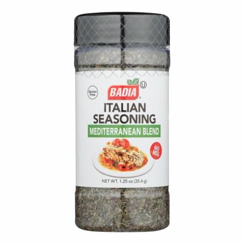 Badia Spices Italian Seasoning Mediterranean Blend - Case of 6 - 1.25 OZ Perspective: front