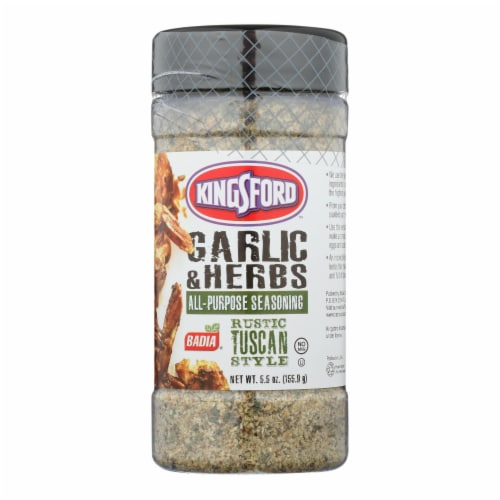 Badia Spices All-Purpose Seasoning Garlic & Herbs - Case of 6 - 5.5 OZ Perspective: front