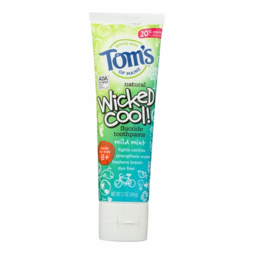 Tom's Of Maine - Toothpaste Kids Mild Mint Fluoride - CS of 6-5.1 OZ Perspective: front
