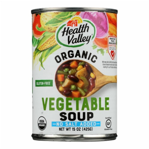 Health Valley Organic Soup - Vegetable No Salt Added - Case of 6 - 15 oz. Perspective: front