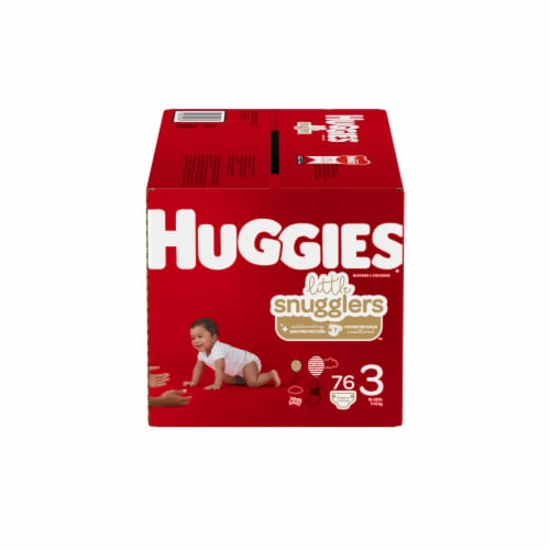 Huggies Little Snugglers Size 3 Diapers Perspective: front
