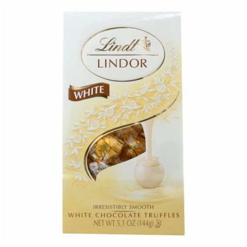 Lindt - Truffles White Chocolate Bag - Case of 6-5.1 oz Perspective: front