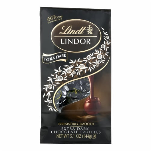Lindt - Truffles X-drk Chocolate Bag - Case of 6-5.1 oz Perspective: front