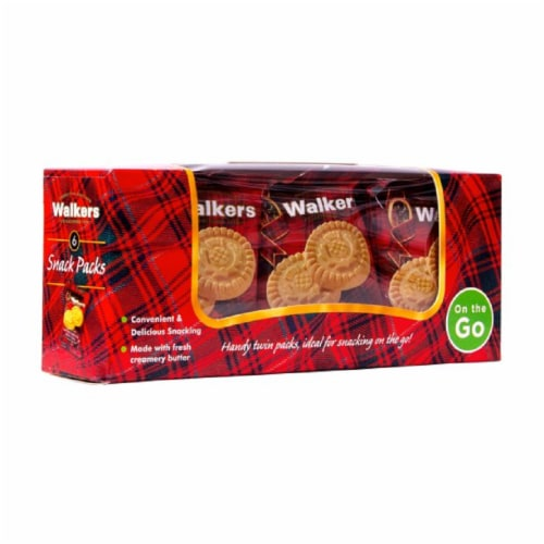 Walkers Pure Butter Shortbread On the Go 7.2oz Pk 12 Perspective: front